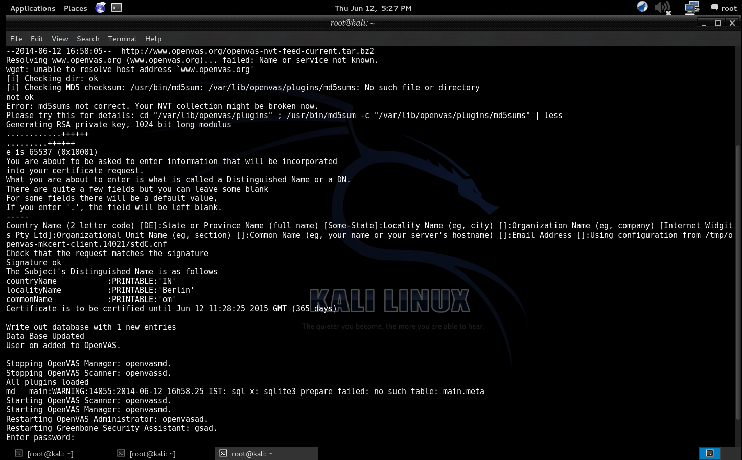 Configuring OpenVAS in Kali Linux For Vulnerability